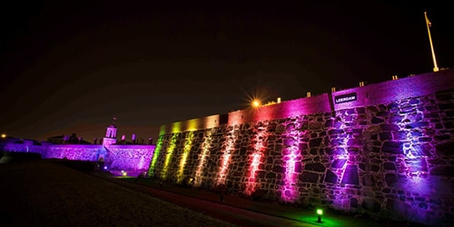 Castle of Good Hope illuminated 1